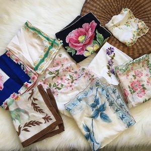 Vintage Hanky Bundle Floral Lot